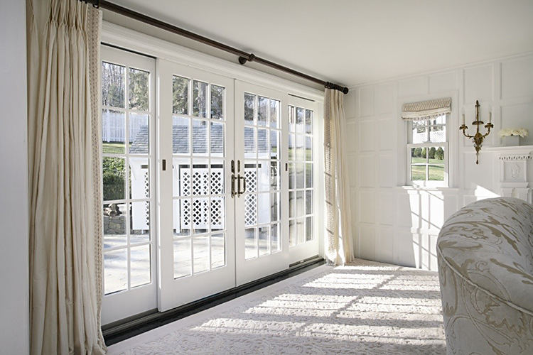 Superior ThermaTru Fiberglass Entry Door And Sidelights. Andersen Frenchwood Sliding  Door