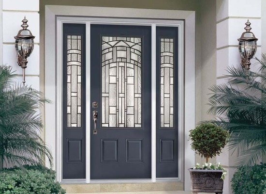 Etonnant ThermaTru Fiberglass Entry Door And Sidelights