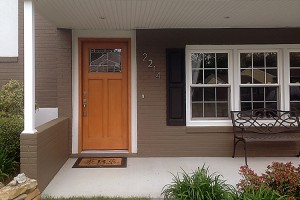 ThermaTru Stained Fiberglass Entry Door